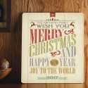 Personalized Holiday Wood Art Sign - Christmas Words