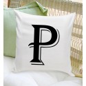 Personalized Initial Throw Pillow - Contemporary