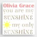Personalized Kids Canvas Sign-Sunshine
