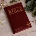 Personalized Laser Engraved Catholic Children's Bible - Maroon