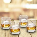 Personalized Lowball Glasses - Set of 4 - Stamped