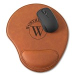 Personalized Rawhide Mouse Pad - Circle