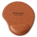 Personalized Rawhide Mouse Pad - 2 lines