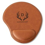 Personalized Rawhide Mouse Pad - Antler