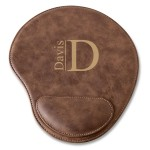 Personalized Rustic Faux Leather Mouse Pad - Modern