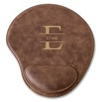 Personalized Rustic Faux Leather Mouse Pad - Stamped