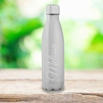 Personalized Feminine Stainless Steel Water Bottle - Script