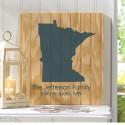 Personalized State Wood Sign - Smokey Blue