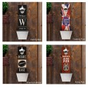 Personalized Wall Mounted Bottle Opener and Cap Catcher - 1