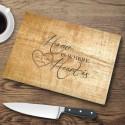 Personalized Glass Cutting Boards - Pine Wood Cutting Board
