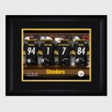 Personalized NFL Locker Room Print with Matted Frame - Pittsburgh Steelers