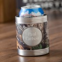 Real Tree Camo Can Cooler with ewter Medallion