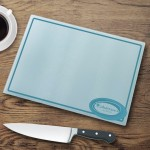 Personalized Glass Cutting Boards - Retro Style Cutting Board