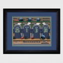Personalized NFL Locker Room Print with Matted Frame - Seattle Seahawks