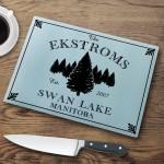 Personalized Cabin Series Glass Cutting Boards - Spruce Cutting Board