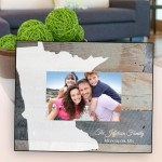 Family Frames - Rustic wood State Picture Frame