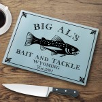 "Personalized ""Cabin"" Series Glass Cutting Boards - Trout Cutting Board"