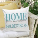 Where Our Story Begins Throw Pillow - Blue