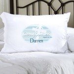Personalized Blue Celtic Blessings Confirmed Pillow Case