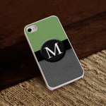 Personalized White Trimmed iPhone Case - Menswear Tweed iPhone Case with White Trim