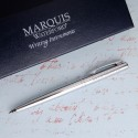 Personalized Waterford® Arcadia Ballpoint Pen - Chrome/Silver