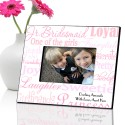 Personalized Junior Bridesmaid Frames - Shades of Pink