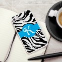 Personalized White Trimmed iPhone Case - Zany Zebra iPhone Case with White Trim