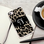 Personalized White Trimmed iPhone Case - Luscious Leopard iPhone Case with White Trim