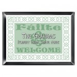 Personalized Irish Linen Family Sign