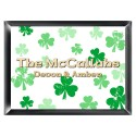 Personalized Raining Clovers Family Sign