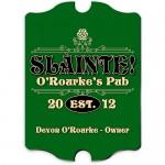 Vintage Personalized Pub Signs - Vintage Slainte Classic Pub Sign