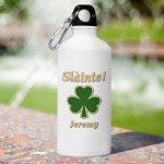 Personalized Irish Water Bottle - Classic Clover
