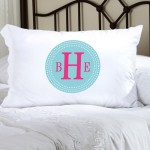 Personalized Felicity  Chic Circles Pillow Case - CC6