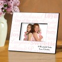 Personalized Junior Bridesmaid Frames - Pink on White