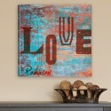 Personalized Graffiti Style Love Canvas Print