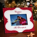 Personalized Christmas Tapestry Picture Frame