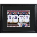 Personalized MLB Clubhouse Print with Matted Frame - Chicago Cubs