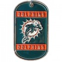 Personalized True Colors NFL Dog Tag  - Miami Dolphins