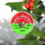 GC425 Santa Red Merry Christmas Ornament