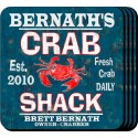 Personalized Coaster Set - Crab Shack