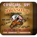 Personalized Coaster Set - Cowgirl Saloon