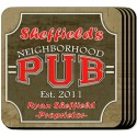 Personalized Coaster Set - Neighborhood Pub Coaster Set