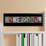 Architectural Elements II Color Family Name Print - Black Border