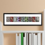 Architectural Elements II Color Family Name Print - White Border