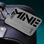 """""""MINE"""" Personalized Luggage Tag for Men"""