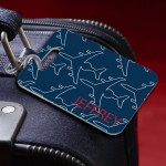 Frequent Flyer Mens Personalized Luggage Tag