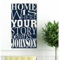 Where Our Story Begins Canvas Print