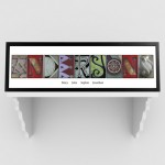 Architectural Elements III Color Family Name Prints - White Border