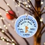 GC425 Reindeer Snow Merry Christmas Ornament