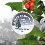 GC425 Cardinal Merry Christmas Ornament